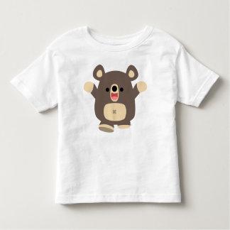 T-shirt heureux d'enfants d'ours noir de bande