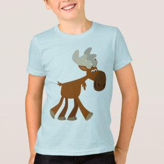 T-shirt heureux mignon d'enfants d'orignaux de