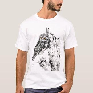 T-shirt Hibou avec la chemise de sauterelle