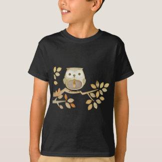 T-shirt Hibou avec la cravate dans l'arbre
