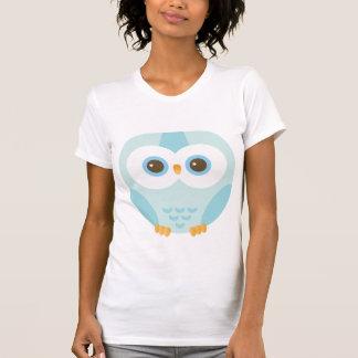 T-shirt hibou bleu