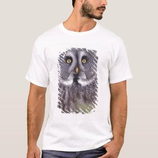 T-shirt Hibou de grand gris (nebulosa de Strix)