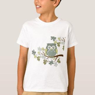 T-shirt Hibou de point de polka dans l'arbre