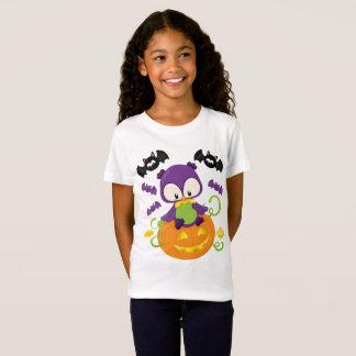 T-Shirt Hibou et battes mignons de Halloween