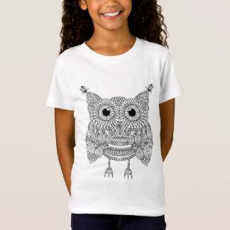 T-Shirt Hibou mignon de griffonnage