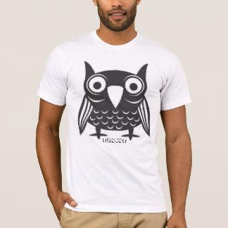 T-shirt hibou noir