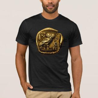 T-shirt Hibou sur la pièce de monnaie du grec ancien
