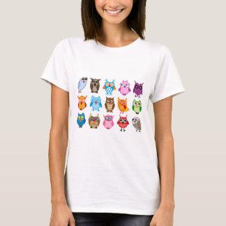 T-shirt Hiboux mignons colorés