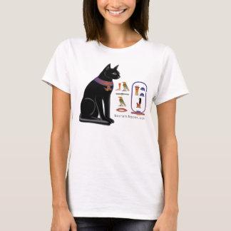 T-shirt hiéroglyphique de chat égyptien