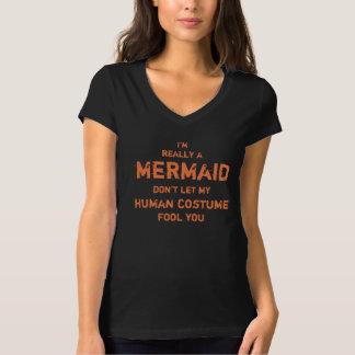 T-shirt Hilare je suis vraiment une sirène Halloween
