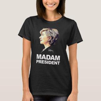 """T-shirt Hillary Clinton chemise de """"Madame président"""""""