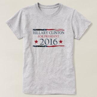 T-shirt Hillary Clinton pour le DRAPEAU du président 2016