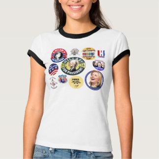 T-shirt Hillary Clinton pour le président 2016 boutons