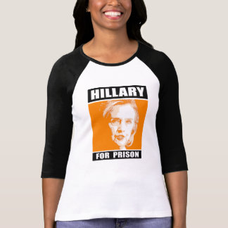 T-shirt Hillary pour la prison - orange - - Anti-Hillary -