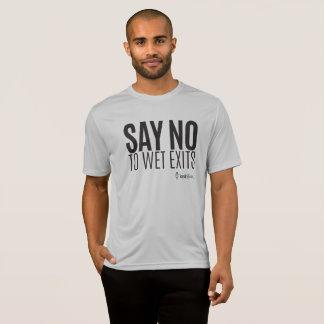 T-shirt Hippie de kayak - dites non de mouiller des