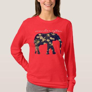 T-shirt Hippie inspiré de marguerite de silhouette