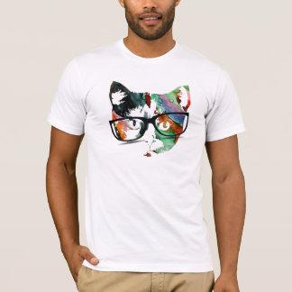T-shirt Hippie Kitty avec des verres