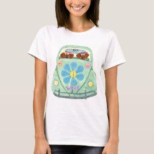 T-shirt Hippies de teckel dans leur mobile d'amour de