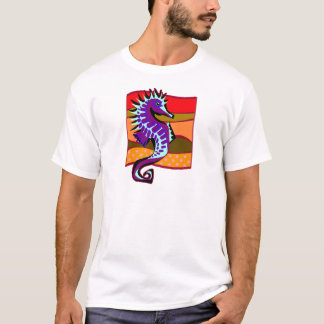 T-shirt Hippocampe pourpre pointu