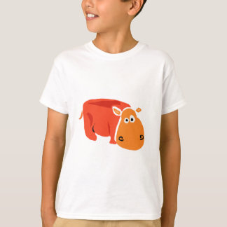 T-shirt Hippopotame primitif drôle d'art