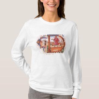 """T-shirt Historiated parafent """"D"""" dépeignant un apothicaire"""