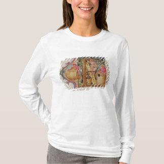 """T-shirt Historiated parafent """"E"""" dépeignant la cueillette"""