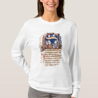 "T-shirt Historiated parafent ""S"" dépeignant pape Gregory"