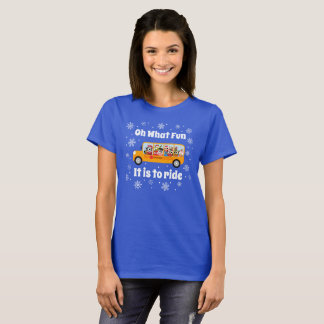 T-shirt Hiver de Noël de chauffeur d'autobus scolaire