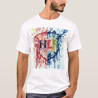 T-shirt HLF ont mouillé la pièce en t de peinture