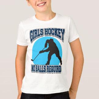 T-shirt Hockey de filles - aucuns enfants requis de boules