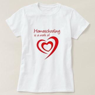 T-shirt Homeschooling est un travail de coeur