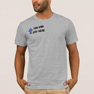 T-shirt Homme avec une épaule à pleurer dessus