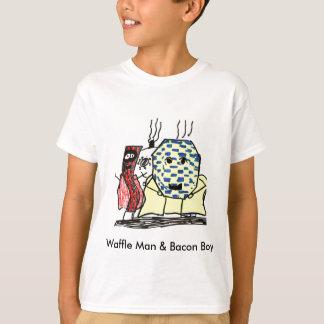 T-shirt Homme de gaufre et garçon de lard