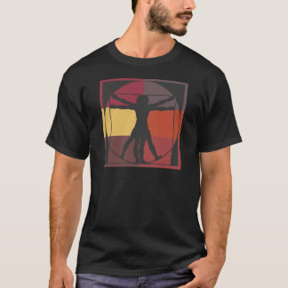 T-shirt Homme de Vitruvian de bloc de couleur