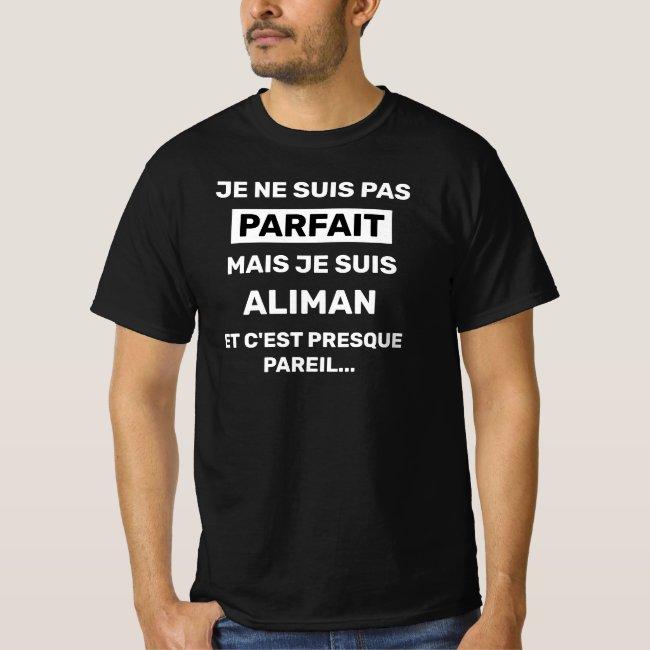 T-shirt Homme je ne suis pas parfait