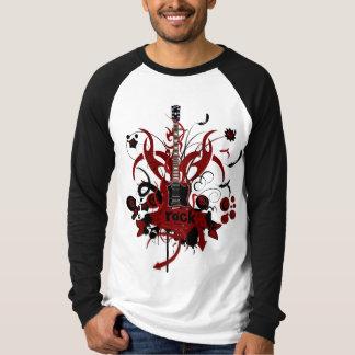 T Shirt homme manches longues bicolore Rock T-shirt