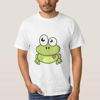 T-shirt Homme mignon drôle de bande dessinée de grenouille