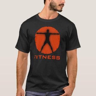 T-shirt Homme orange noir de Vitruvian de forme physique
