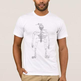 T-shirt homme squelettique du 14ème siècle