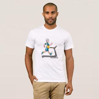 T-shirt Homme sur une forme physique de tapis roulant