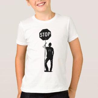 T-shirt Homme vintage avec l'art de signe d'arrêt