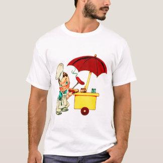 T-shirt Homme vintage de chariot de hot-dog de hot-dogs de