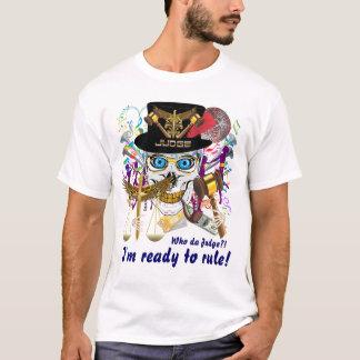 T-shirt Hommes de juge de mardi gras toute la lumière de