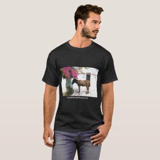 T-shirt hommes de mascotte d'âne de GreekIslandHouse.com