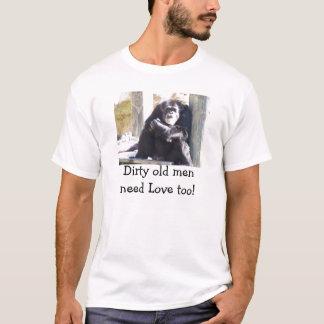 T-shirt Hommes sales de pièce en t les vieux ont besoin