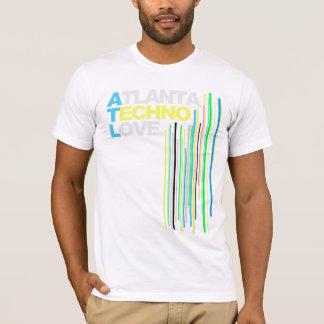T-shirt Hommes (verts) d'amour de techno d'Atlanta