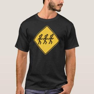 T-shirt Hommes votre panneau routier de maman Warned You