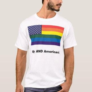 T-shirt Homosexuel ET Américain !