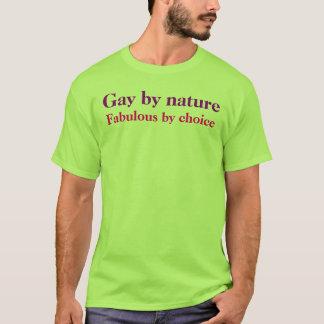 T-shirt Homosexuel par nature, fabuleux par choix