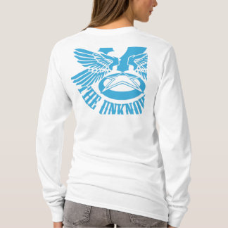 T-shirt Hoody adapté des femmes bleues